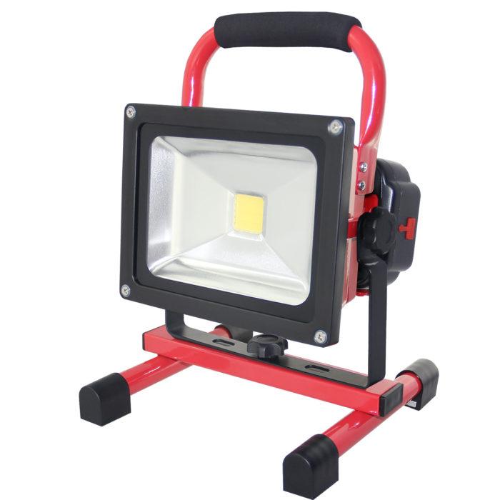 MUVA LED - Akku Fluter 20 Watt austauschbarem Akku