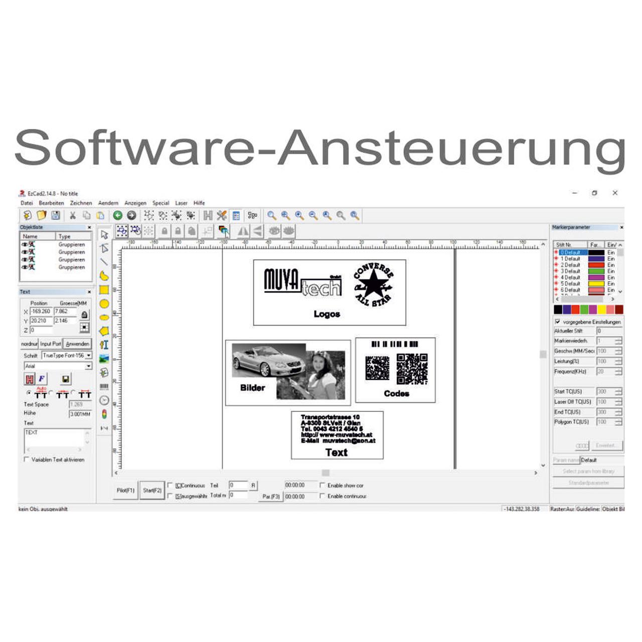 MUVA laser - Mastermark-Software
